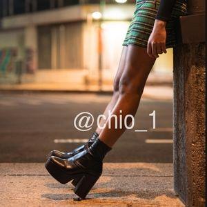 Zara Leather platform Heleed Ankle booties